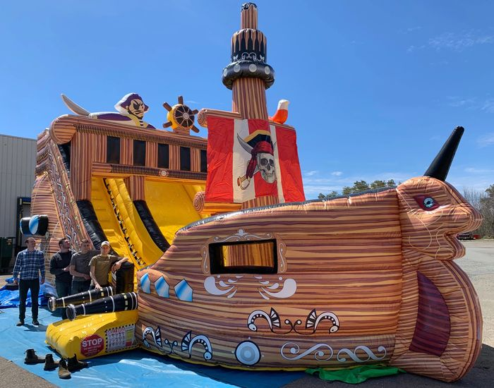 Giant Inflatable Pirate Ship Bounce Castle rentals Nova Scotia and New Brunswick.