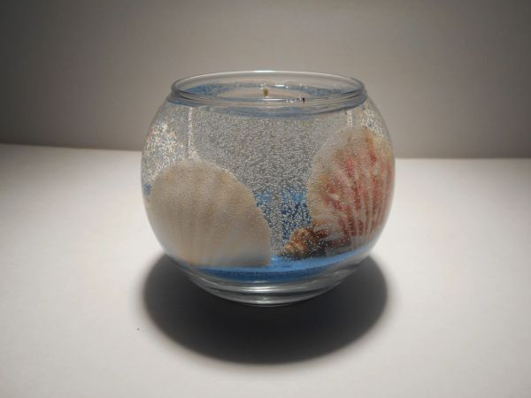 Bubble Seashells & Starfish Refillable Gel Candle