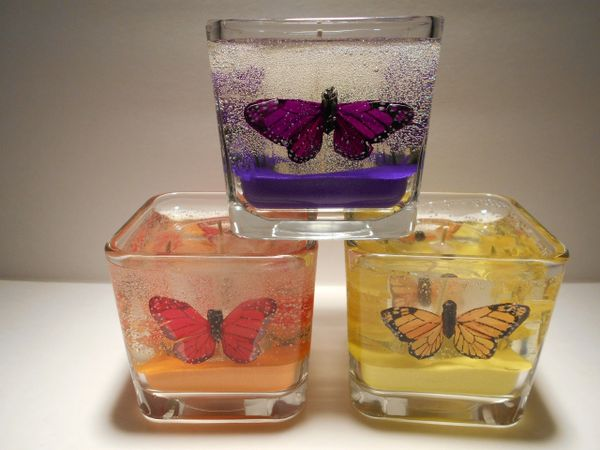 Butterfly Refillable Gel Candle