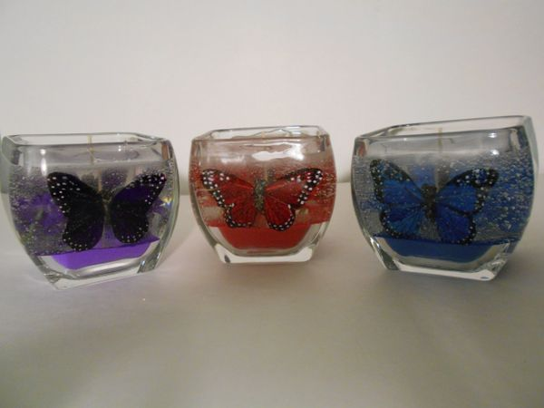 Medium Butterfly Refillable Gel Candle