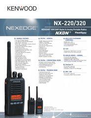 NX-220/320 NEXEDGE® VHF/UHF Digital & Analog Portable Radios