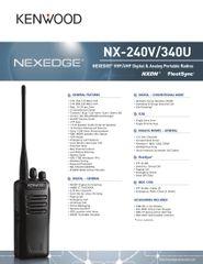 NX-240V/340U NEXEDGE® VHF/UHF Digital & Analog Portable Radio