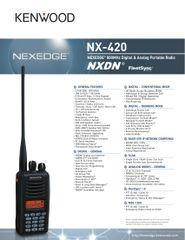 NX-420 NEXEDGE® 800MHz Digital & Analog Portable Radio