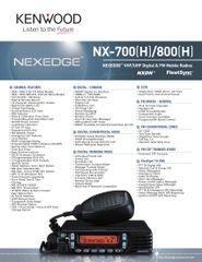 NX-700(H)/800(H) NEXEDGE™ VHF/UHF Digital & FM Mobile Radios