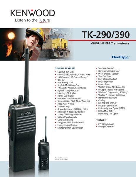 TK-290/390 VHF/UHF FM Transceivers