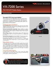 VX-7200 Series P25 VHF/UHF Mobile Radios