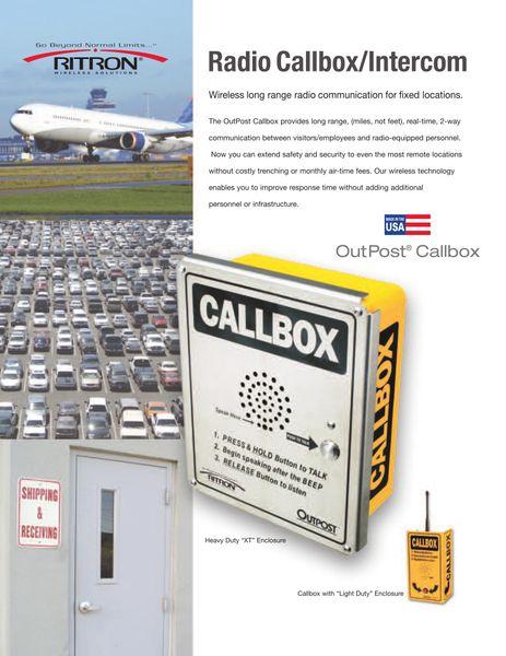 Radio Callbox/Intercom