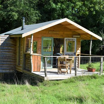 off grid cabin, cabin for two, wooden cabin, den by the stream, rural retreat, eco cabin