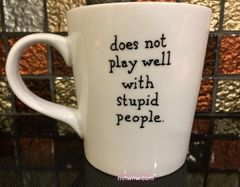 Does Not Play Well With Stupid People Coffee Mug
