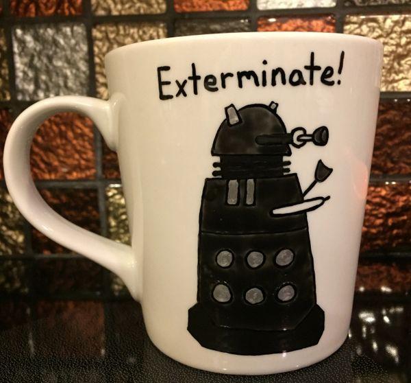 No Wonder You Scream/Exterminate (Dr. Who) Coffee Mug