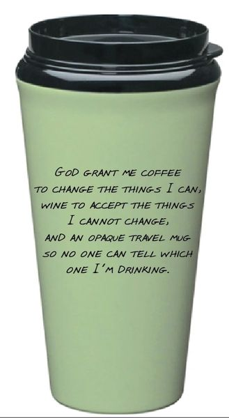 Travel Mug Serenity Prayer Tumbler - Green