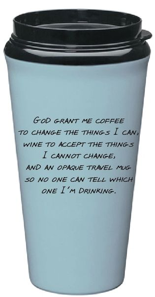 Travel Mug Serenity Prayer Eco-Tumbler - Blue