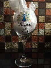 Majestic as Fuck Wine Glass