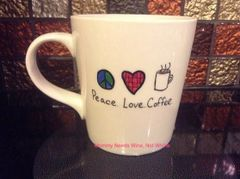 Peace. Love. Coffee. Mug