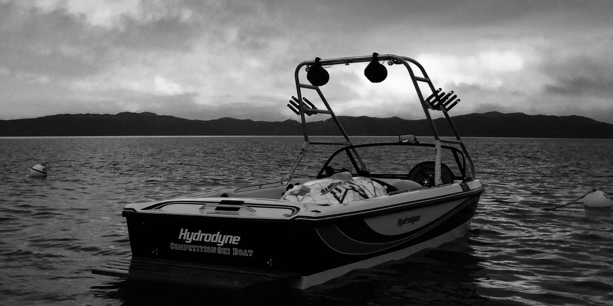 1994 Hydrodyne Comp XP Competition Ski Boat in Rubicon Bay, Lake Tahoe, CA.