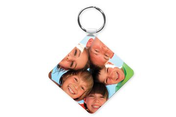 Square plastic keyring ready for printing. Can be double sided print
