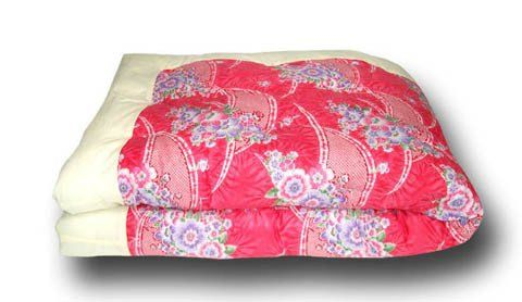 the best attitude f1414 62287 Japanese Kake-Futon (Comforter) - Twin, Red/Pink Floral