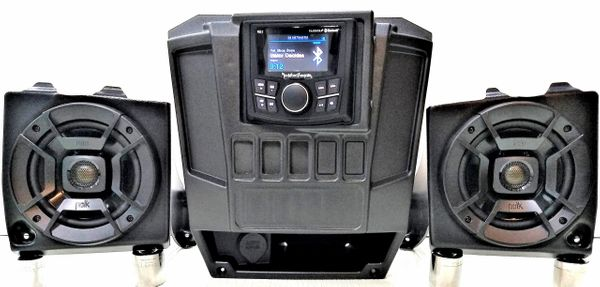 "2013-2019 Polaris Ranger Full Size XP 570/900/1000 Dash Mounted Audio Kit - Rockford Fosgate PMX-1 Media Receiver - 5.25"" Polk Audio DB522 Speakers - FM/AM - Bluetooth - Plug and Play - 100% Weather Proof - Additional Options Available"