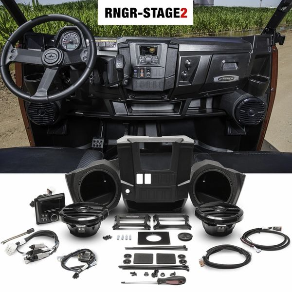 2013 - 2019 Polaris Ranger XP 900 / XP 1000 Rockford Fosgate RNGR-STAGE2 - Exclusive Add-Ons Available