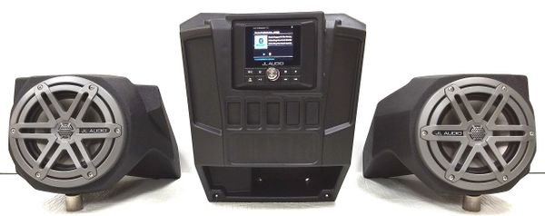 2013-2019 Polaris Ranger Full Size XP 570/900/1000 Dash Mounted Audio Kit -  JL Audio MM50 Media Receiver - JL Audio MX650 Speakers - FM/AM - Bluetooth