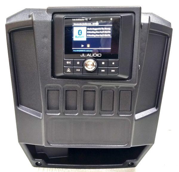 2013 - 2019 Polaris Ranger Full Size Dash Mount - JL Audio MM50 Head Unit -  FM/AM - Bluetooth - Plug and Play - 100% Weatherproof