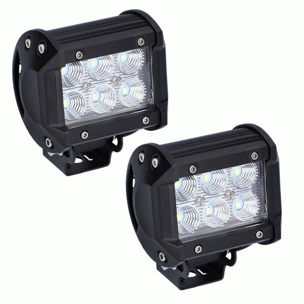 Daytona Cube LED Flood Beam Lights - 4 Inch - Sold as a Pair