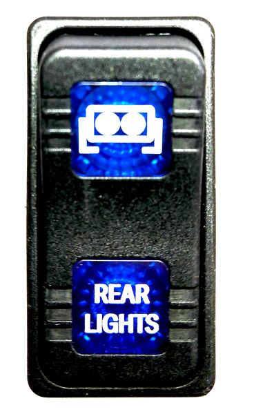 2013 - 2019 Polaris Ranger XP 570 / XP 900 Rear Light Dash Switch - Blue LED - Factory Look