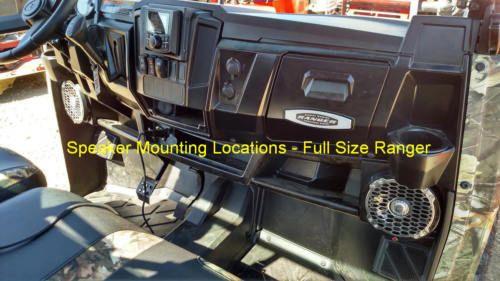"2013-2019 Polaris Ranger Full Size XP 570/900/1000 Dash Mounted Speakers - Rockford Fosgate 6.5"" Speakers and Speaker Mounts - Optional Speakers Available"