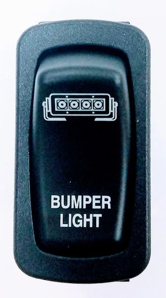 2018 - 2021 Polaris Ranger XP 1000 / 1000 Dash Mounted Bumper Light Switch - Blue LED - Bottom lights up when key is on - Top lights up when light is on