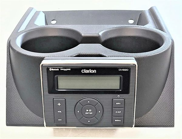 "2018 - 2021 Polaris Ranger XP 1000 / 1000 Dash Mounted Audio Kit - Clarion Media Receiver - Rockford Fosgate 6.5"" Speakers - FM/AM - Bluetooth - Plug and Play - 100% Weather Proof - Optional Upgrades Available - Keeps the cupholders"