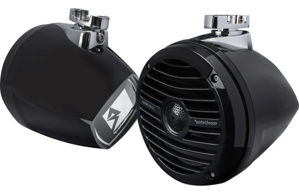 "Rockford Fosgate RM1652W-MB mini wakeboard 6.5"" tower speakers (Black) - Only 7"" Long"