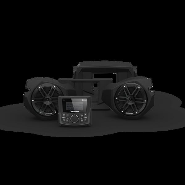 """Arriving Soon"" - Rockford Fosgate RZR14-STG1 - PMX-1 and Front Speaker Kit for Select Polaris® RZR® Models (Gen-3)"
