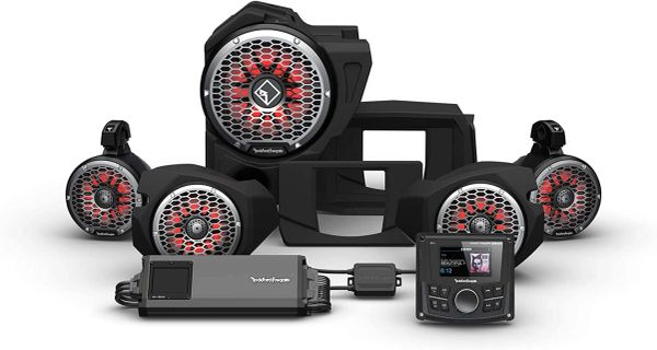 """Pre-Order"" - 2014 - 2021 Polaris RZR XP 900 / XP 1000 Rockford Fosgate RZR14 PMX-1 STG5 Stereo, 1500-Watt Amp, Color Optix Multicolor LED Lighted Front Speaker, Subwoofer & Rear Speaker Kit"