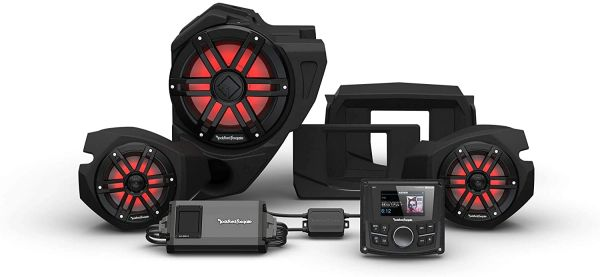 """Pre-Order"" - 2014 - 2021 Polaris RZR XP 900 / XP 1000 Rockford Fosgate RZR14 PMX-1 STG3 Stereo, 800-Watt Amp, Color Optix Multicolor LED Lighted Front Speaker & Subwoofer Kit"