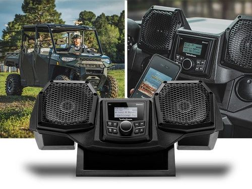 """2018 - 2022 Polaris Ranger XP 1000 / 1000 Rockford Fosgate All-In-One Dash Housing with PMX-1 and 5.25"""" Speakers - RNGR18-STG1"""