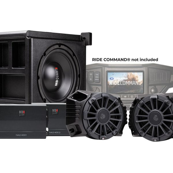 """""""Arriving Soon"""" - 2018 - 2022 Polaris Ranger XP 1000 STAGE 3 800 Watt Tuned Audio System designed for RIDE COMMAND - MBQRG-STG3-RC-1 - Plug and Play"""