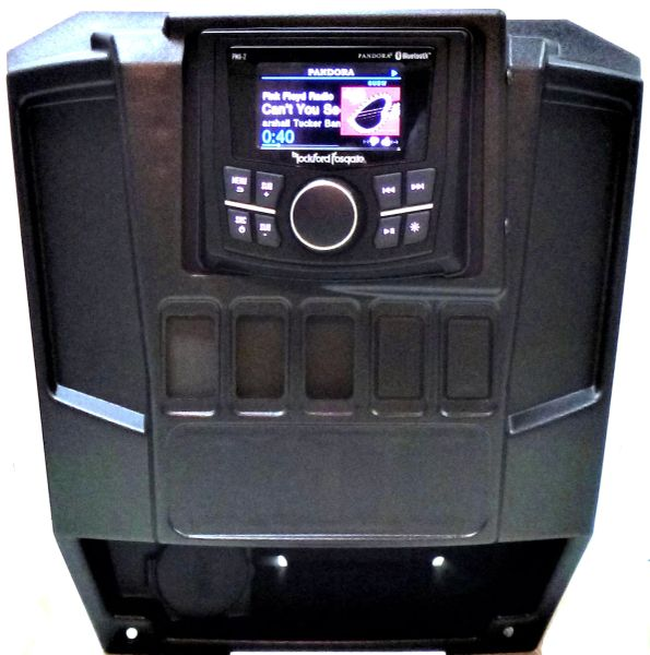 2013-2019 Polaris Ranger Full Size XP 570/900/1000 Dash Mount - Rockford Fosgate PMX-1 Media Receiver - FM/AM - Bluetooth -100% Weather Proof - Additional Options Available