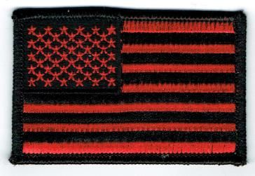 AMERICAN FLAG BLACK & RED (XSMALL)
