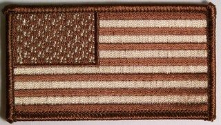 AMERICAN FLAG BROWN & WHITE (SMALL)