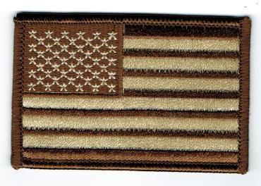 AMERICAN FLAG BROWN & WHITE (XSMALL)