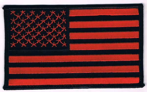 AMERICAN FLAG BLACK & RED (MEDIUM)