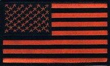 AMERICAN FLAG BLACK & ORANGE (MEDIUM)