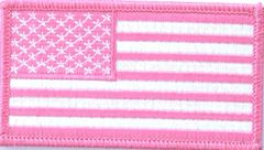 AMERICAN FLAG WHITE & PINK (SMALL)