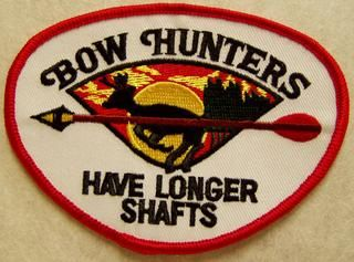 BOW HUNTERS HAVE LONGER SHAFTS