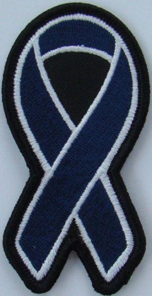 DARK BLUE RIBBON COLON CANCER AWARENESS