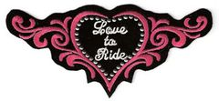 LOVE TO RIDE STUDDED HEART SMALL