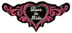 LOVE TO RIDE STUDDED HEART MEDIUM