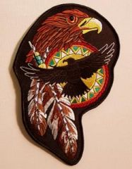 NATIVE AMERICAN HAWK WITH STUDS LARGE