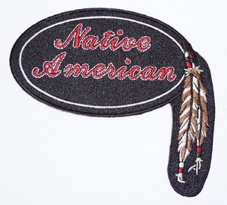 NATIVE AMERICAN WITH FEATHER