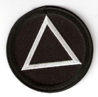 AA/Alcoholic's Anonymous Triangle (black)